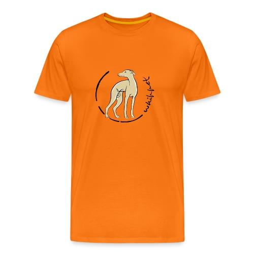 whippet trait beige - T-shirt Premium Homme