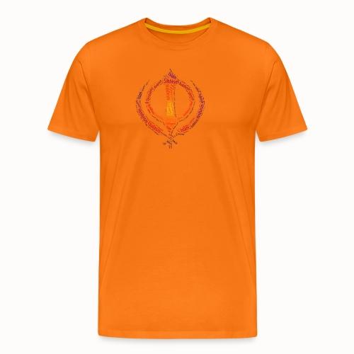 T-shirt sikh khanda encompassing world religions - Men's Premium T-Shirt