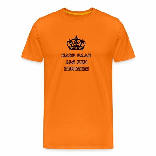 Hard gaan als de koningin - Mannen Premium T-shirt