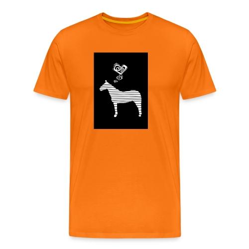 Pferde Herz - Männer Premium T-Shirt