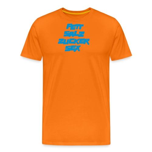 fett_salz_zucker_sex - Männer Premium T-Shirt