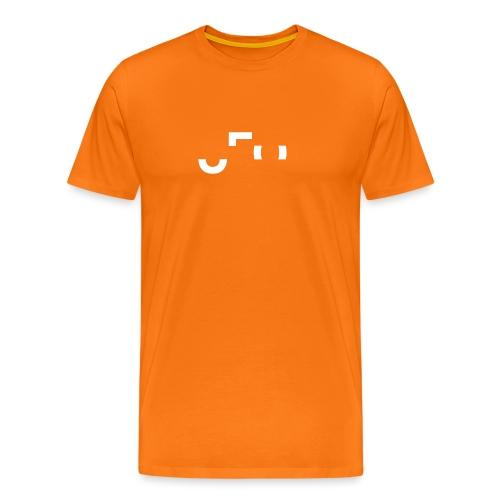 Orange Shirt - Large Center Logo Front & Back - Männer Premium T-Shirt