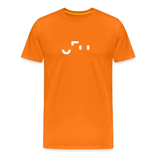 Orange Shirt - Large Center Logo Front & Back - Männer Premium T-Shirt