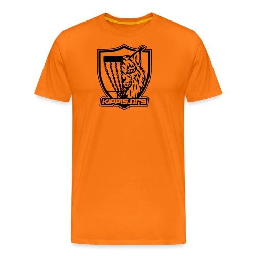 Kippis.org, ilves-vaakuna (musta) - Miesten premium t-paita