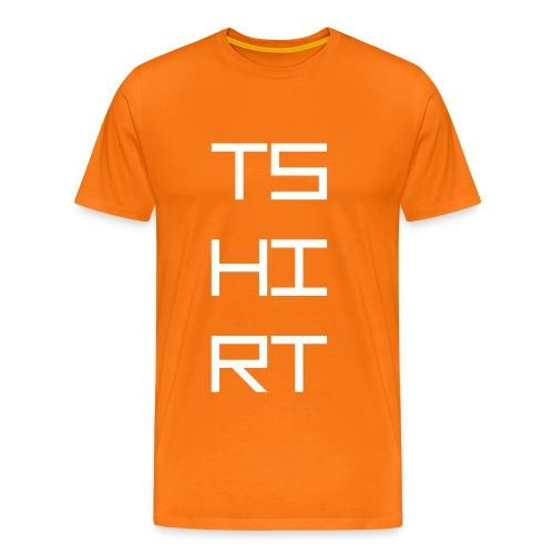 TS HIRT WHITE - Herre premium T-shirt