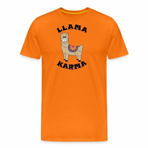 Llama Karma - Men's Premium T-Shirt