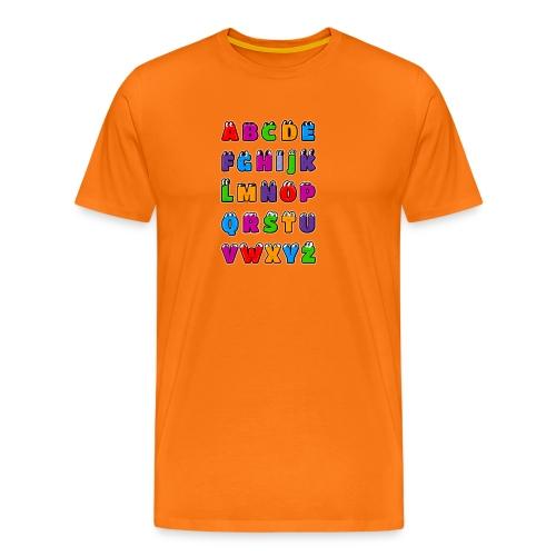 Letras del alfabeto Kawaii ABC para niños. Dibujos - Camiseta premium hombre
