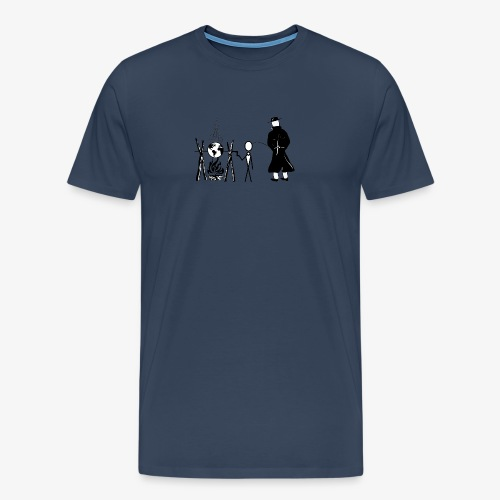 Pissing Man against human self-destruction - Männer Premium T-Shirt