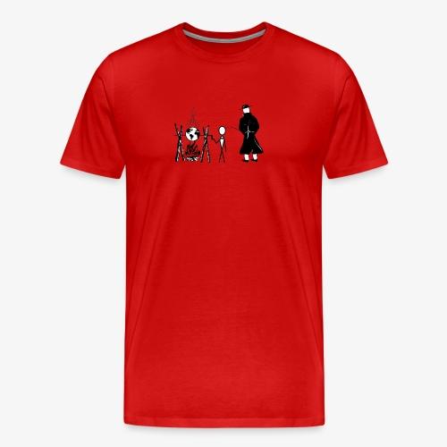 Pissing Man against human self-destruction - Männer Premium T-Shirt