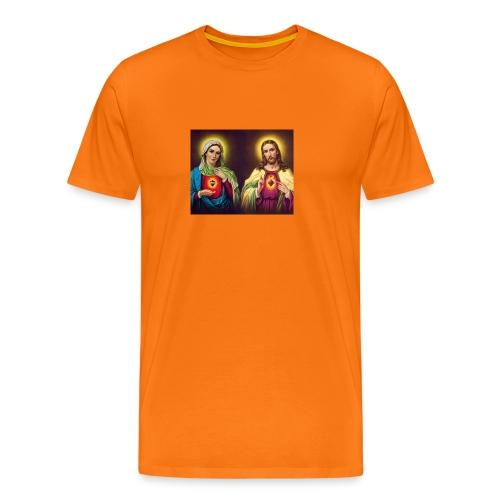 Coeurs unis de Jésus et Marie - T-shirt Premium Homme