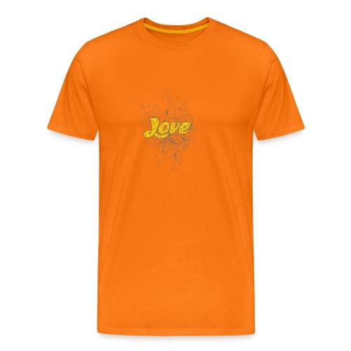 Scritta Love con decorazione - Maglietta Premium da uomo