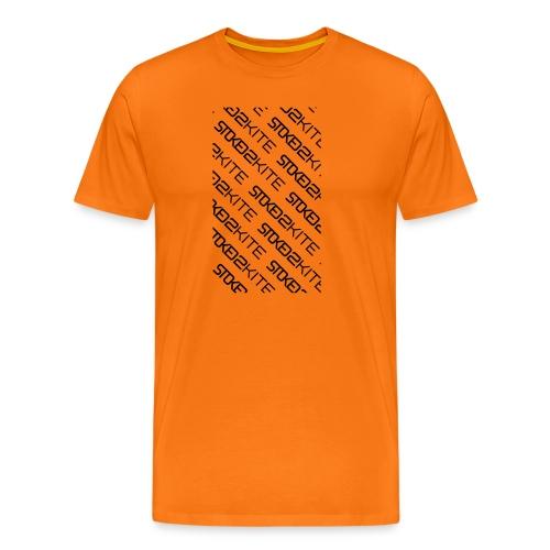 stoked2schuinetekst - Mannen Premium T-shirt