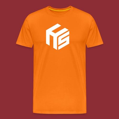 Logo White - Men's Premium T-Shirt