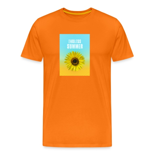 sunflower endless summer Sonnenblume Sommer - Men's Premium T-Shirt