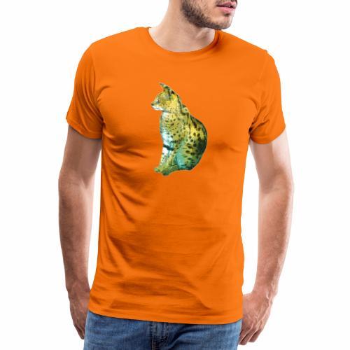 Schöner sitzender Serval - Männer Premium T-Shirt