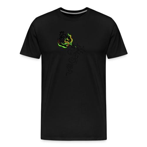dragon t shirt orange modif FINI vrm - Männer Premium T-Shirt