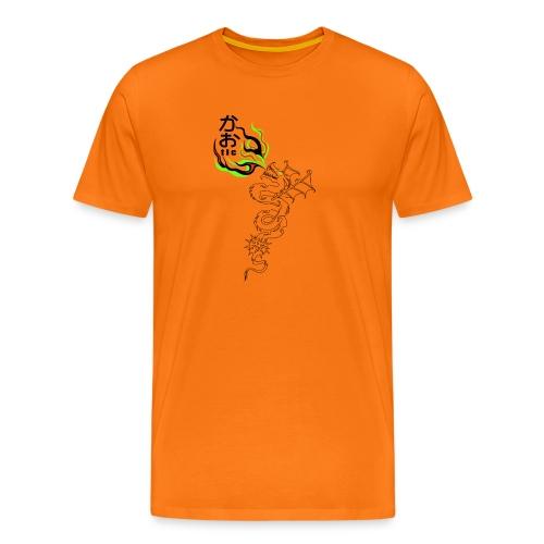 dragon t shirt orange modif FINI vrm - Bio-Baseballkappe
