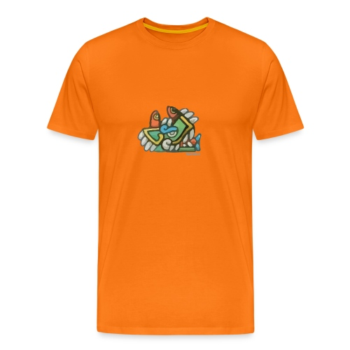 Aztec Crocodile - Men's Premium T-Shirt