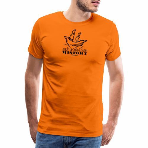 Learn History - zwart - Mannen Premium T-shirt