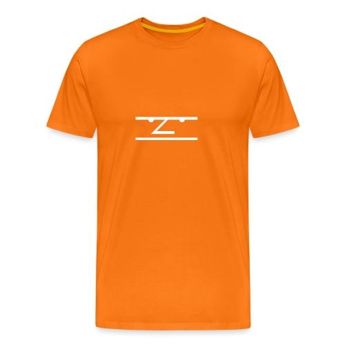 The Average Men Hoodie, White Logo - Mannen Premium T-shirt