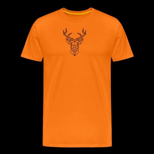 sticker tete de cerf en origami jpg - T-shirt Premium Homme