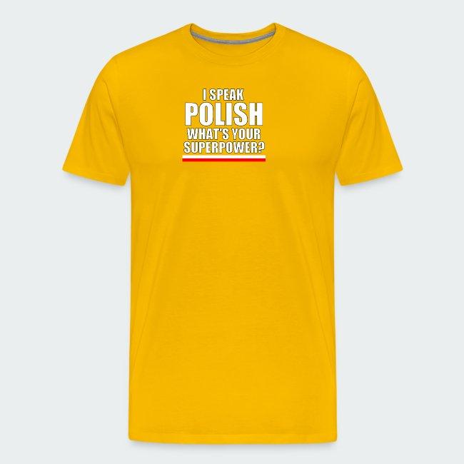 Damska Koszulka Premium I SPEAK POLISH