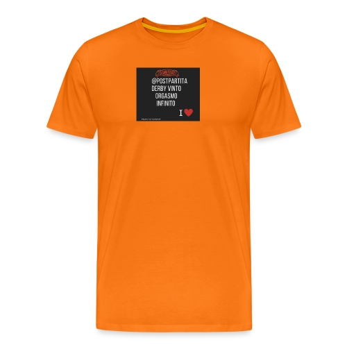 Postpartitaderby vintoorgasmoinfinito - Maglietta Premium da uomo