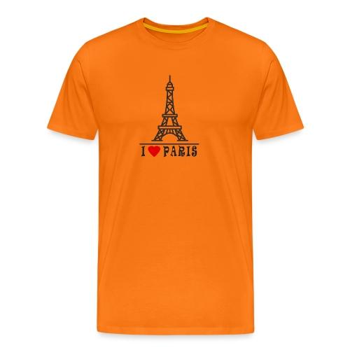 Paris - Miesten premium t-paita