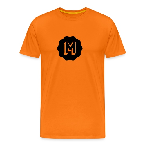 Messiosen symbol sort - Premium T-skjorte for menn
