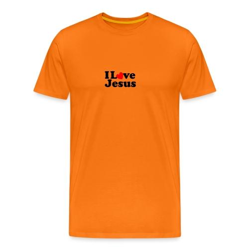 I Love Jesus - Maglietta Premium da uomo
