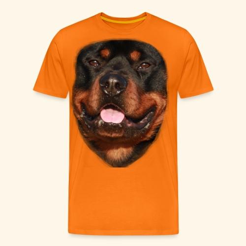rotweiller face - Men's Premium T-Shirt