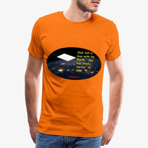 Slab and the Curvy Earth - Men's Premium T-Shirt