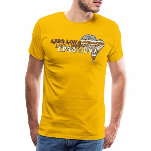 Afro Lova Savane - T-shirt Premium Homme