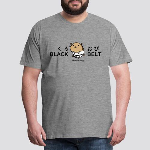 Zwarte gordel hamster - Mannen Premium T-shirt