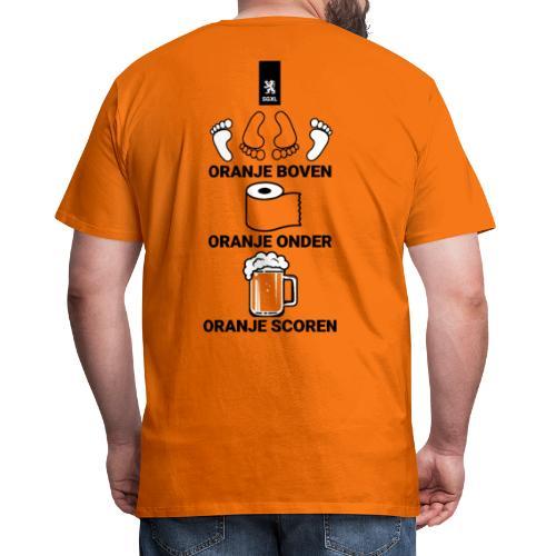 Oranje Scoren - EK 2021 Shirt - Mannen Premium T-shirt