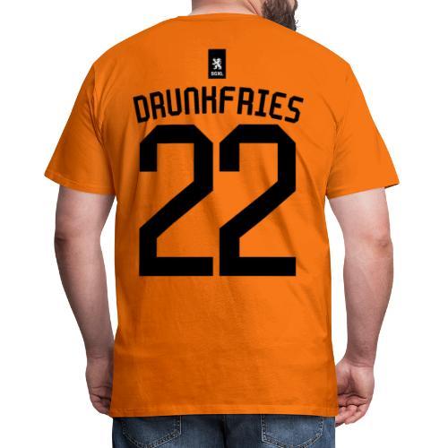 Drunkfries Oranje - EK 2021 - Mannen Premium T-shirt