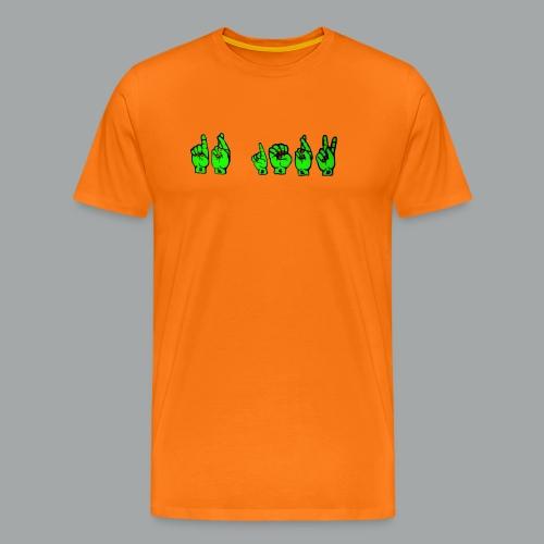 Dr.zerK Zeichensprache - Männer Premium T-Shirt