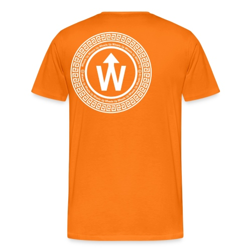 wit logo transparante achtergrond - Mannen Premium T-shirt