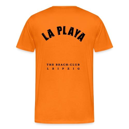 LA PLAYA ohne Zahl backprint - Männer Premium T-Shirt