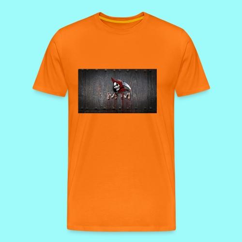 Reaper Wood Background - Men's Premium T-Shirt