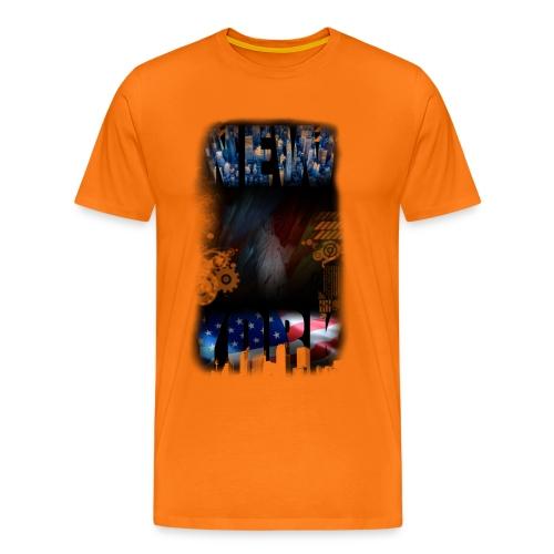 New York Skyline - Männer Premium T-Shirt