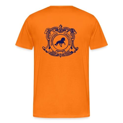 islandpferdereistchule pfad ohneweb - Männer Premium T-Shirt