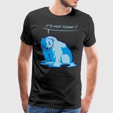 Smelte bjørn - Premium T-skjorte for menn
