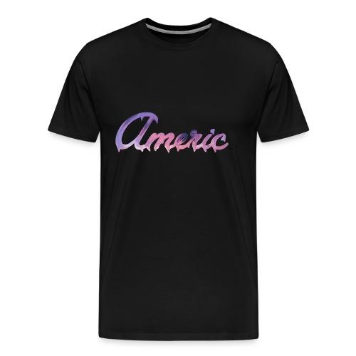 Pink paint logo - Mannen Premium T-shirt