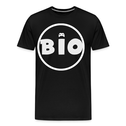 WHITE LOGO - Mannen Premium T-shirt