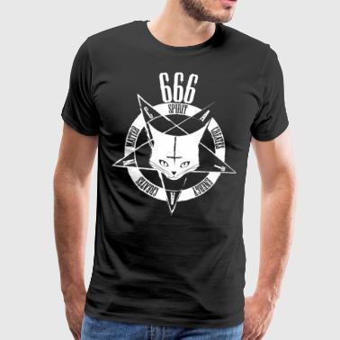 Satanic Cat 666 - CATAN - Western-Edition weiß - Männer Premium T-Shirt
