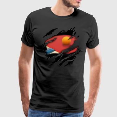 Pöytätennis minussa - Miesten premium t-paita
