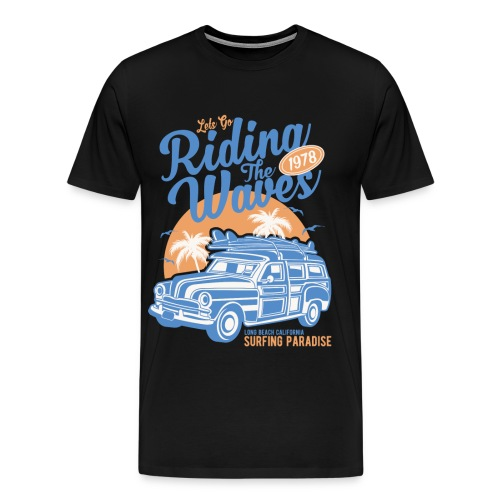 Riding The Waves Vintage Style - Men's Premium T-Shirt