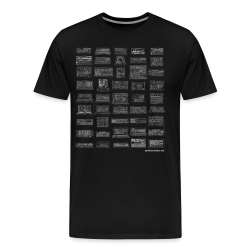 Synth Evolution T-shirt - Black - Men's Premium T-Shirt