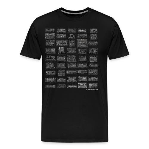 Synth Evolution T-shirt - Black - Men's Premium T-Shirt